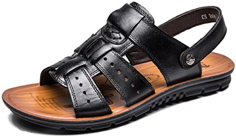 Männer Sandalen Genuine Split Leder Männer Strand Sandalen Männer Freizeitschuhe Flip Flops Sneakers Männer Hausschuhe