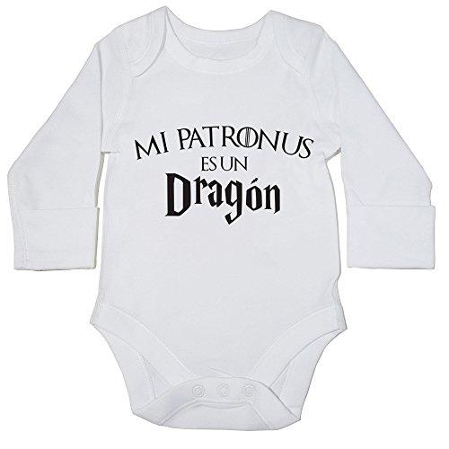 HippoWarehouse-Mi-Patronus-es-un-Dragn-body-manga-larga-bodys-pijama-nios-nias-unisex