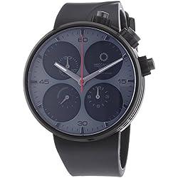 Meccaniche Veloci Quattro Valvole Black Edition Men's Automatic Watch with Black Dial Chronograph Display and Black Rubber Strap W123K286496025