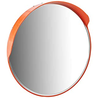 Arregui Convex Mirror for Traffic Driveway Road Safety and Monitoring, orange, MIR002