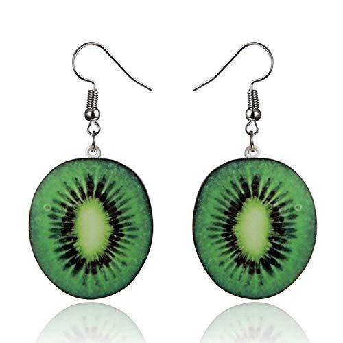 Ohrring Silber Damen Große Frucht Erdbeere Ohrringe Ananas Tropfen baumeln Haken Ohrringe Frauen Schmuck Geschenk Ohrringe Ohrringe (Früchte-wand-aufkleber)