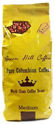 Green Hill Coffee 100% pure Colombian Coffee beans by Cyrus Brothers 1000g from Cyrus Brothers