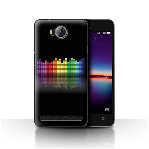 eSwish Hülle/Case für Huawei Y3II/Y3 2 / Grafischer Equalizer EQ Muster/Neon Farben Kollektion
