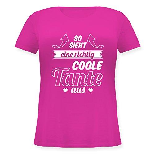 Shirtracer Schwester & Tante - So Sieht eine Richtig Coole Tante Aus - Lockeres Damen-Shirt in Großen Größen mit Rundhalsausschnitt Fuchsia