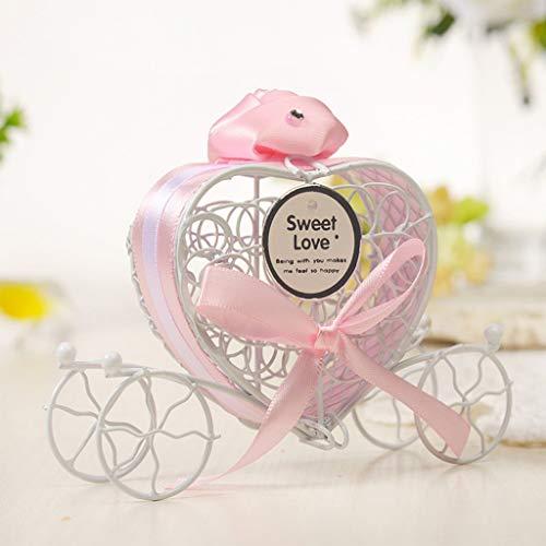 e süßigkeitskästen romantische wagen süßigkeiten pralinenschachtel hochzeit party favors candy box kleine objekt aufbewahrungsbox ornamente kürbis auto weißblech (C) ()