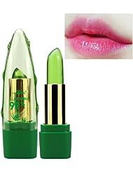 ROPALIA 99% Aloe Vera Jelly Lippenstift Farbe Ändern Temperatur Feuchtigkeitsspendende Balsam Lipgloss