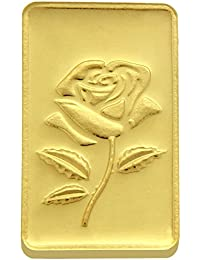 TBZ - The Original 25 gm, 24k(999) Yellow Gold Rose Precious Coin