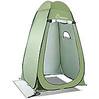 WolfWise Duschzelt Toilettenzelt, Camping Umkleidezelt Outdoor Privatsphäre Zelte, Lagerzelt Kabine mit Ablagefach, Pop up, Wasserfest, Tragbar