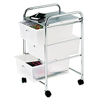 Premier Housewares–Cajón de Almacenamiento con Ruedas con Estructura cromada