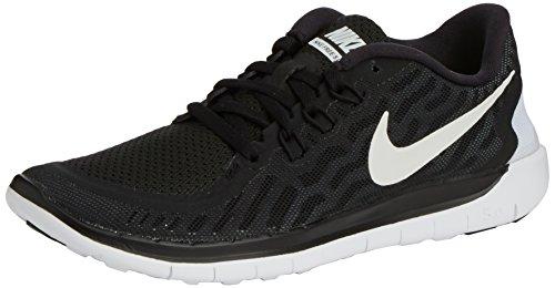 Nike Free 5.0 (GS) Unisex-Kinder Laufschuhe Schwarz (001 BLACK/WHITE-DARK GREY-CL GREY)
