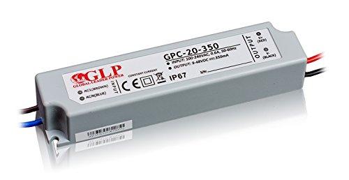 GLP Professioneller LED Trafo 700mA Konstantstrom 9-10V DC, 19.9W, Wasserfest IP67, Ideal für 3W LEDs (1-6 Stück)