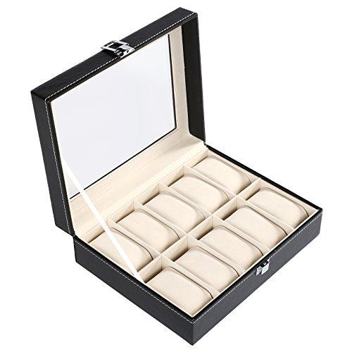 homdox-uhrenbox-uhrenkoffer-fur-10-uhren-armbanduhr-uhrenkasten-uhrentruhe-uhrenschatulle-kunstleder