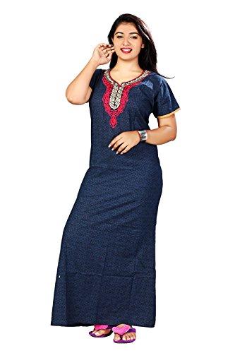 Bailey Women\'s Cotton Nightwear(Blue_Free Size)