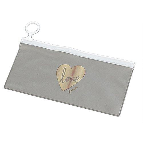 Treestar penna matita borsa con cerniera anello per le ragazze dei bambini pvc matita della scuola regalo trasparente borsa del sacchetto b 18.7 * 9.5 cm