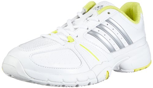 adidas Performance Barricade Team 2 W G64799, Damen Tennisschuhe, Weiß (RUNNING WHITE FTW/METALLIC SILVER/RUN YELLOW-SMC), EU 40  (UK 6,5)