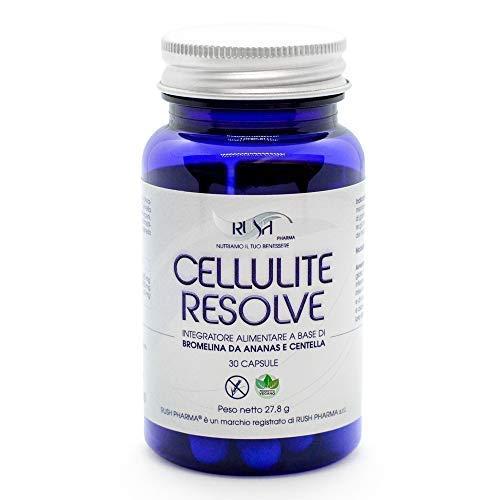 Integratore per la cellulite capsule con bromelina da ananas e centella asiatica efficace anche per gambe gonfie e pelle a buccia d'arancia