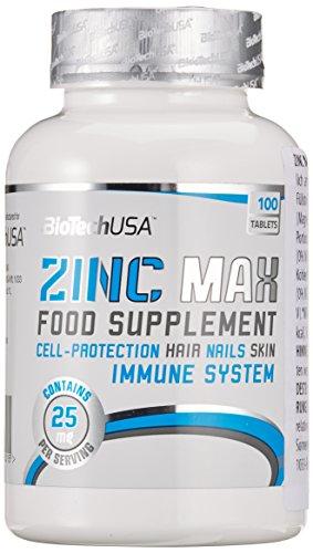 Biotech USA Zinc Max 100 Tabletten, 1er Pack (1 x 70 g)