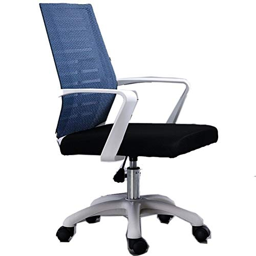 Ri Sheng Jian Zhu Esports Silla Spiel Gaming atmungsaktive Kissen Lacework Stuhl Rad Massage kann liegen ergonomie Haushalt poltrona hohe qualität (Farbe : White Frame Blue)