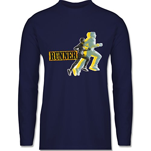 Laufsport - Runner - Longsleeve / langärmeliges T-Shirt für Herren Navy Blau