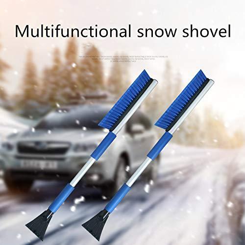 Strumento di rimozione della Neve Pieghevole per Auto 757 3 in 1 Combinato con Una Spazzola per e Un Raschietto per Ghiaccio Una Pala da Neve in Lega di Alluminio Leggera Campeggio