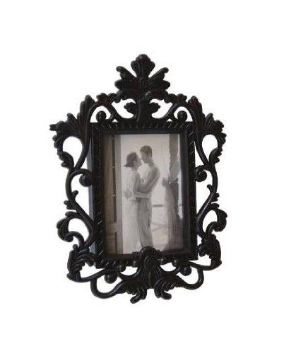 Unbekannt Kühlschrank-Magnet Barock Bilderrahmen schwarz für 1 Foto 6 x 9 cm, Außenmaße: 11 x 8...