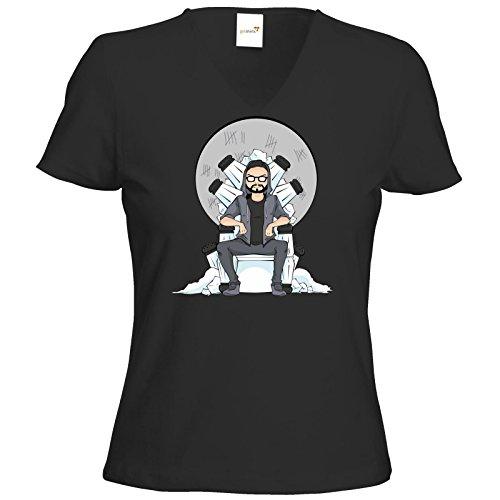 getshirts - Staiys Haute Couture - T-Shirt Damen V-Neck - Staiy - Saltthrone Schwarz