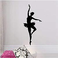 Ballerina Wall Sticker - Ballet Dancer Wall Decal - Ballerina Decor - Ballet Silhouette Girls Dance Decal 90 cm X 44 cm