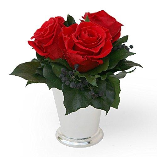 rosemarie-schulzr-blumengesteck-3-jahre-haltbar-in-silberbecher-mit-3-rosen-konserviert-in-rot-und-e