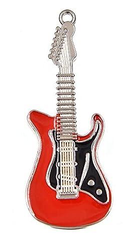 febniscte 8Go 16Go 32Go 64Go Guitare en métal en forme de clé USB Flash Drive 16 Go rouge