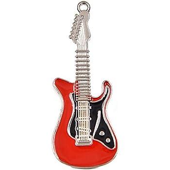 FEBNISCTE 32GB Memorias USB Rojo Metal Guitarra USB 2.0 Flash Drive