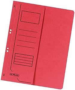 Farbe 25 /Ösenhefter A4 Ablage-Schnellhefter rot