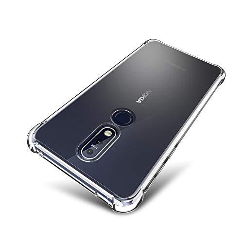 SLEO Nokia 7.1 Hülle, Ultra Dünn TPU Schale Schutzhülle Clear Case Soft Cover für Nokia 7.1 (Ultra Slim – 1 mm) - Transparent