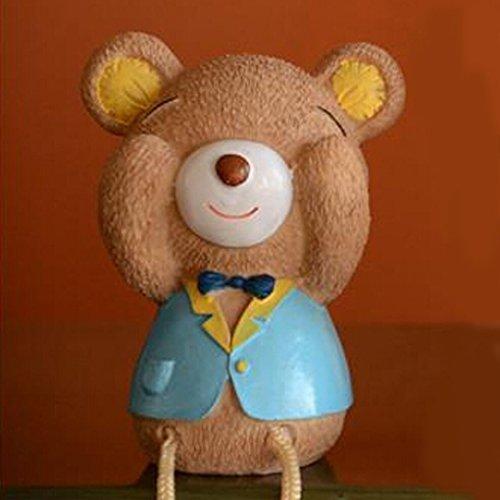 Sweet Home unico per bambini, idea regalo, da appendere a piede-Salvadanaio a orsetto, Vaso Toys Ornaments-Don't ascolta Don't Look, Don't Say