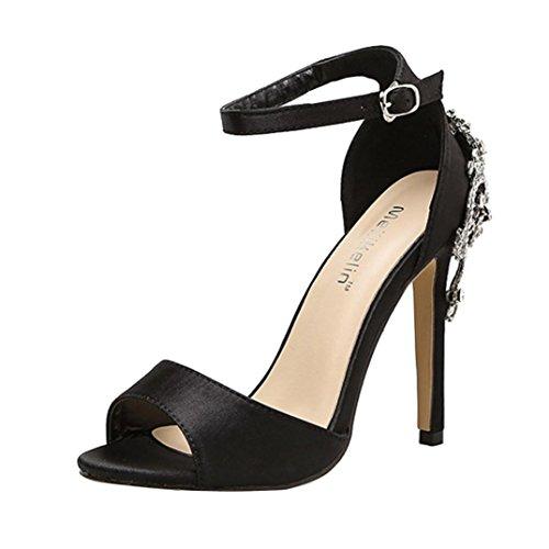 CLEARANCE SALE! MEIbax sommer - mode luxus diamond hochhackigen sandalen party - hochzeit mit frauen (36, Schwarz)