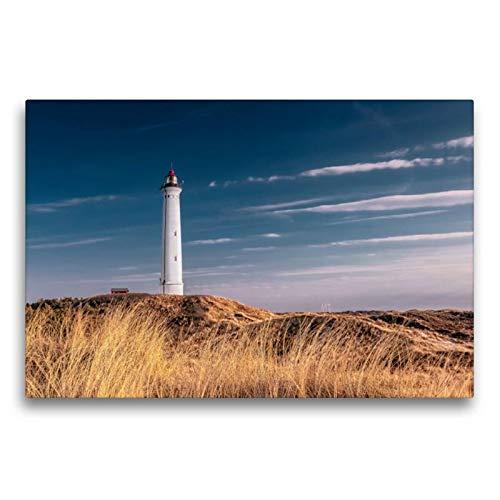 Premium Textil-Leinwand 75 x 50 cm Quer-Format Lyngvig Fyr | Wandbild, HD-Bild auf Keilrahmen, Fertigbild auf hochwertigem Vlies, Leinwanddruck von Dirk Wiemer