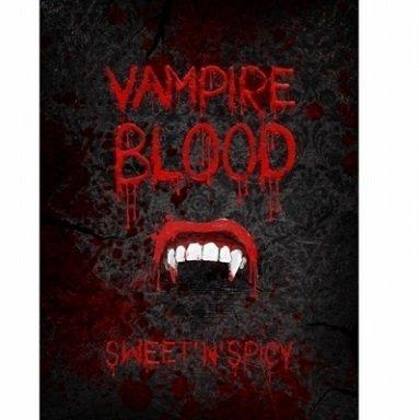 Generique - Halloween-Flaschenetiketten Vampirgebiss 10 Stück schwarz-rot-Weiss 9,5x12,5cm