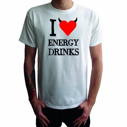 I don't love Energy Drinks Herren T-Shirt Weiß