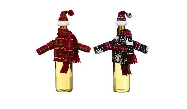 a2ca1ed9f81 Holiday Wine Bottle Decoration - Ganz Wine Bottle Snuggler  Toy    Amazon.co.uk  Toys   Games