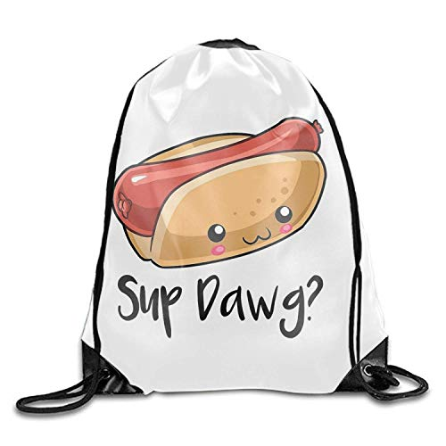 Naiyin Drawstring Backpack Shoulder Bags Hot Dog (Store Erwachsenen Hot Stuff)