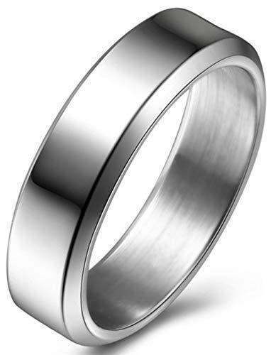 Kostüm Muster Einfache Elf - AXJa Ring 8Mm 6Mm Titan Paar Ringe Dieser Ring erstrahlt in Schönheit und verleiht ein luxuriöses Bild 6Mm Silber 11