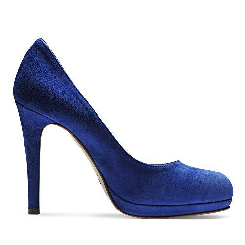 CRISTINA escarpins femme daim bleu royal