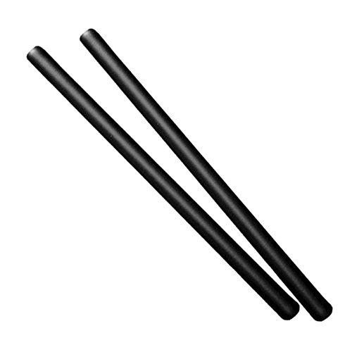 DEPICE w esf 2x Bastone per Escrima con Imbottitura Morbida Arma da addestramento 2 Pezzi Colore Nero