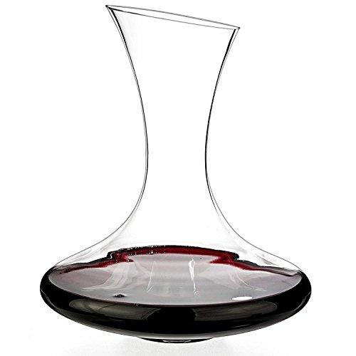 Decantador de vino tinto de cristal Slanting Boquilla dispensador de vino con una capacidad de 1,5 L/1500 ml/1500 cc