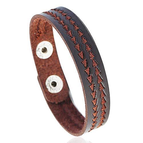 Irugh bracciale braccialetto in rilievo mano gioielli vacanza regalo bracciale uomo pelle mano anello semplice in ecopelle