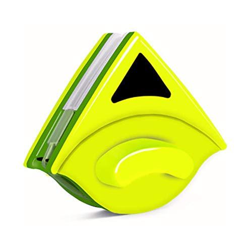 HKLYZ doppelseitiger magnetischer Glasreiniger, doppelseitiger magnetischer Fensterreiniger, Glaswischer, Glaswischer, magnetische Reinigungswerkzeuge für 8-15 mm Einzelglas gelb -