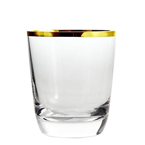 Cristal de Sèvres Margot Or Set de Verres à Whisky, Verre, Or, 9 x 9 x 10 cm, Lot de 2