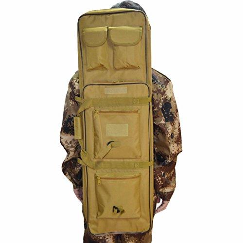 Funda para rifle táctico militar, de Omonic; 122 cm, doble bolsa, correas acolchadas para el hombro que se ajustan a la máxima longitud, canela, 121,92 cm