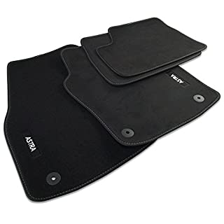 Genuine Vauxhall Astra H Carpet Footwell Mats Tailored Fitted Black Set of 4 Official Vauxhall Astra H 2004-2010 All Models Velour Mats