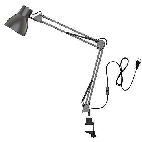 ToJane elektro-swing arm schreibtischlampe metallschelle montiert heim-studio-licht grau -