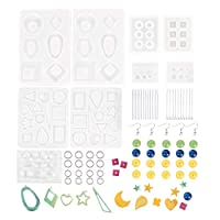 248PCS Earring Resin Molds DIY Crystal Epoxy Earring Jewelry Epoxy Mold Accessory Set Craft Jewelry Making Starter Kit